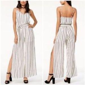 NWT MONTEAU striped Side slit Jumpsuit XL